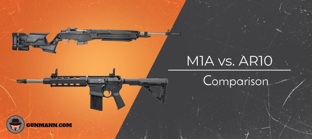 M1A vs  AR-10   Similarities & Differences Compared! - Gun Mann