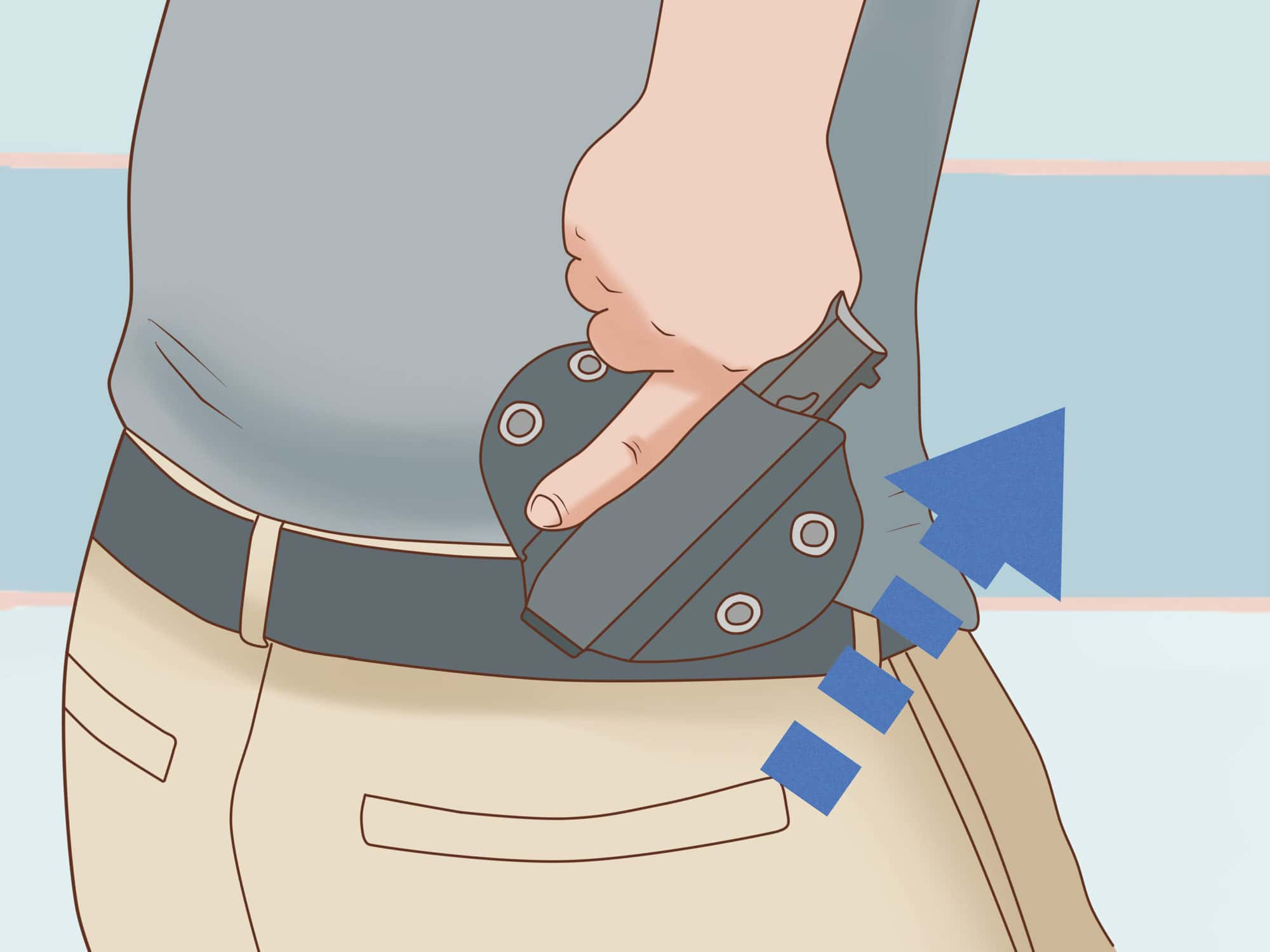 Drawing a Gun from a Holster