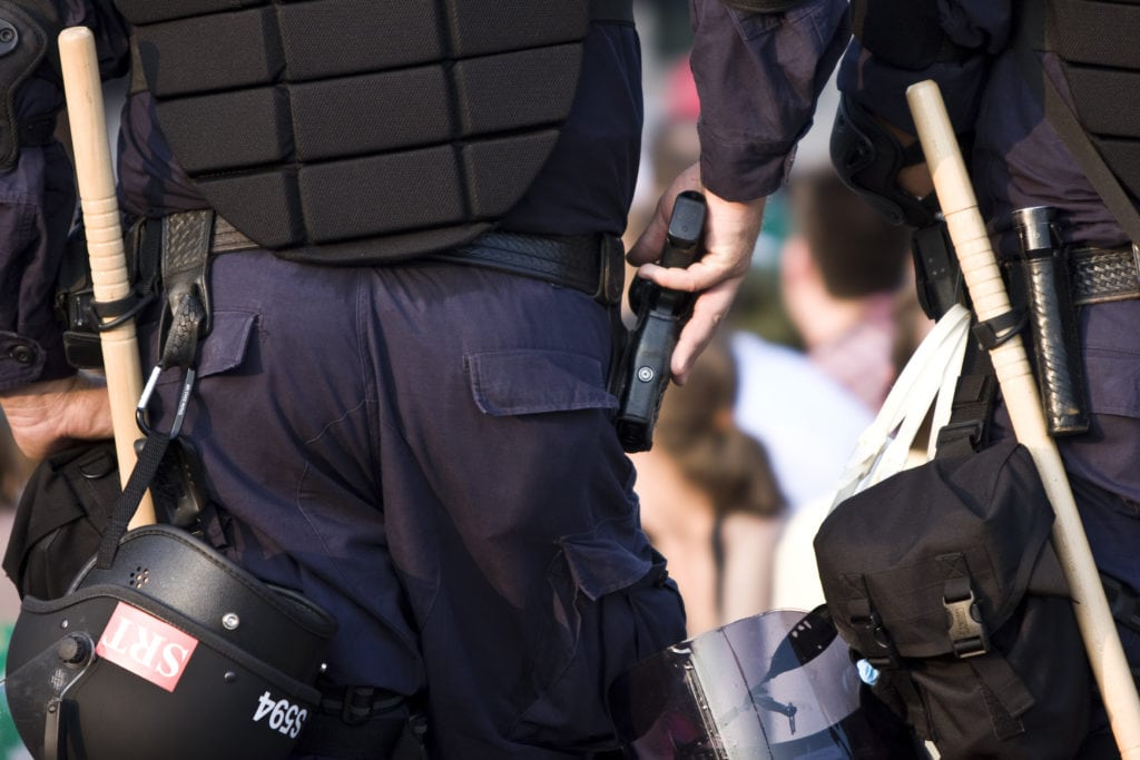 Police with OWB holster
