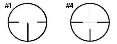 German 1 vs 4 Reticle